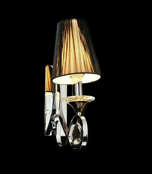 Wall Lamps Crystal : CRYSTAL WALL LAMP NEGRIO W1