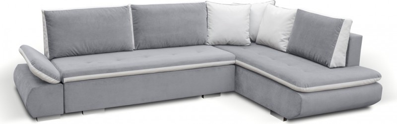 Corner sofa bed argent Corner couch sofa bed