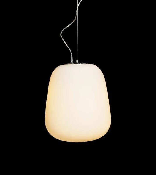 Hanging lamp glass lazziate for Glass hanging floor lamp