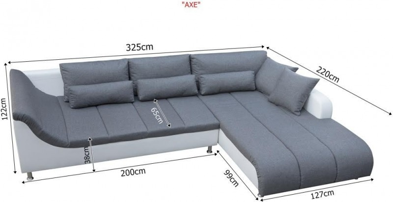 Axe corner sofa for Sofa bed 200cm wide