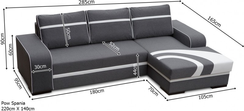 Corner sofa bed flores Corner couch with sofa bed