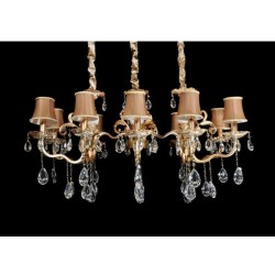 HANGING LAMP WITH CRYSTALS DELUXIVE W10